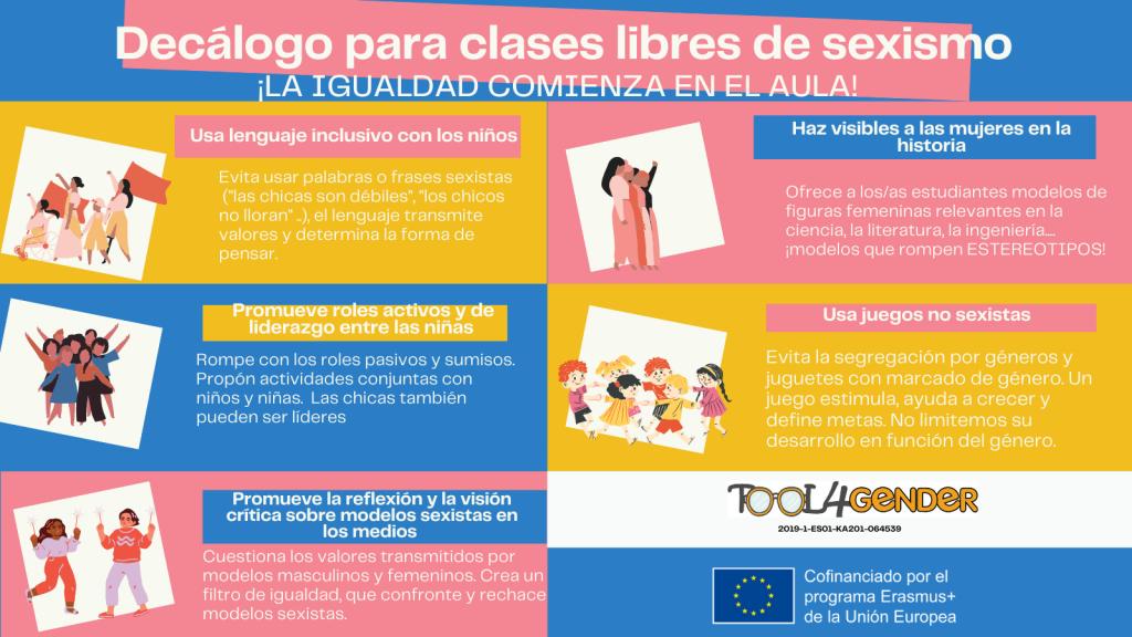 Decálogo para combatir la violencia de género en las aulas